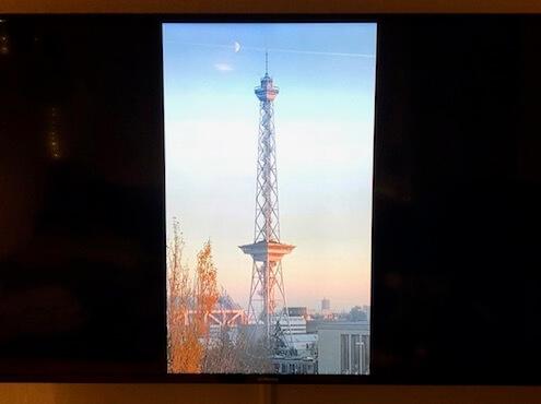 Smartphone Bild auf Fernseher - Hochformat