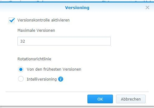 Cloud Station Server - Versionierung