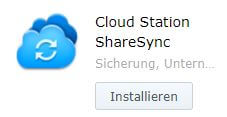 Cloud Station ShareSync - Installieren