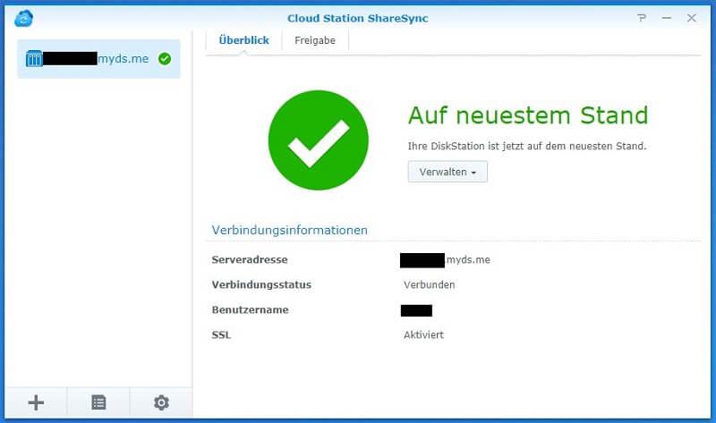Cloud Station ShareSync - Synchronisierung auf neuestem Stand