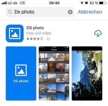 DS photo installieren