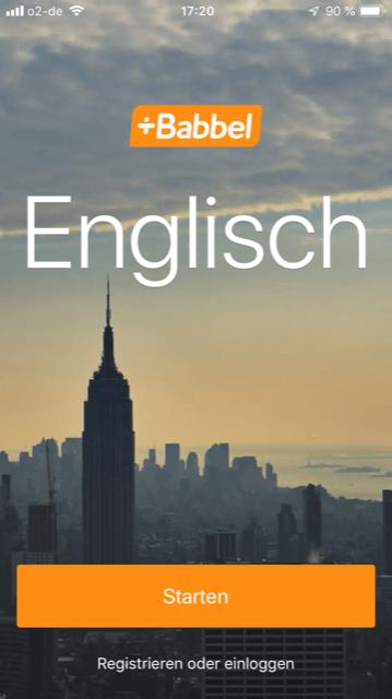 Babbel Englisch starten