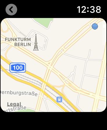 Glympse Apple Watch Live Standort mit Karte