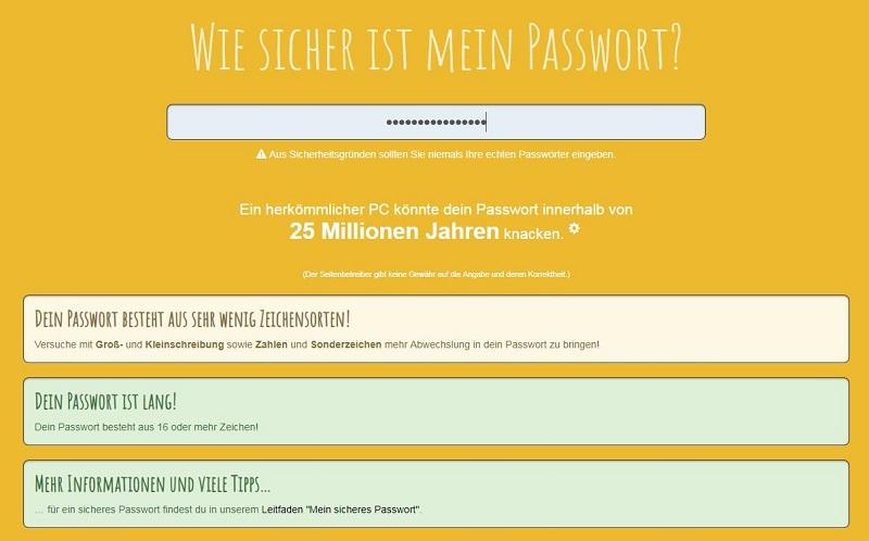 Check dein Passwort