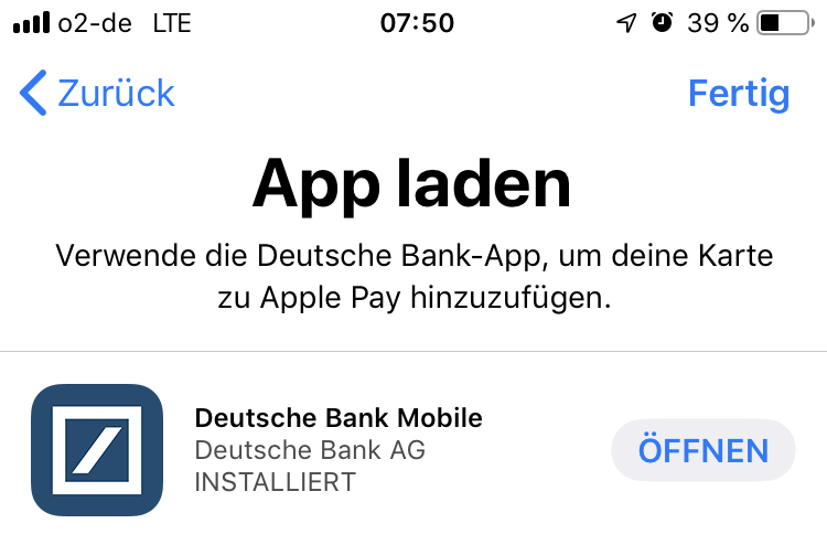 Apple Pay - App laden