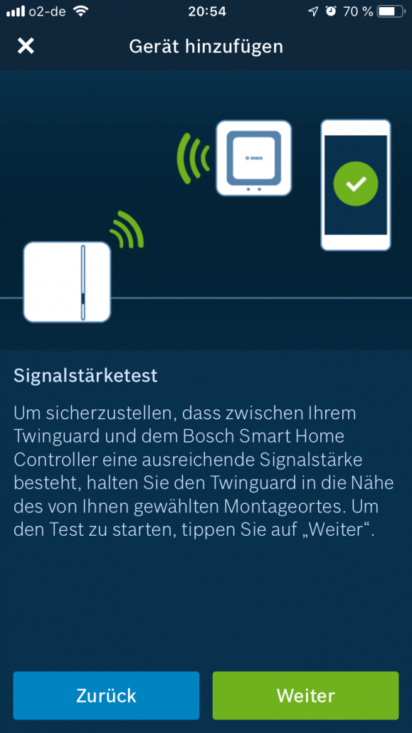 Bosch Smart Home Signalstärketest