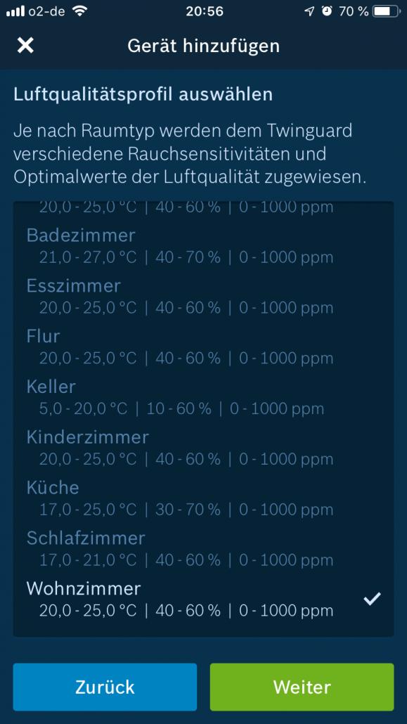 Bosch Smart Home Luftqualitätsprofil