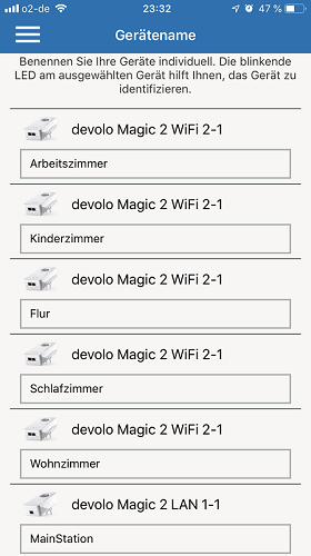 Devolo Magic 2 - Home Network App - Gerätenamen