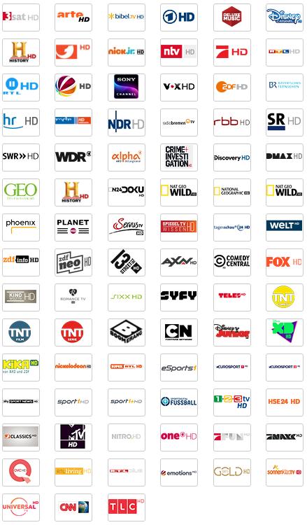 GigaTV Cable Senderliste