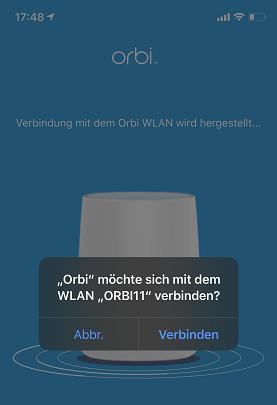 Mit Orbi WLAN verbinden