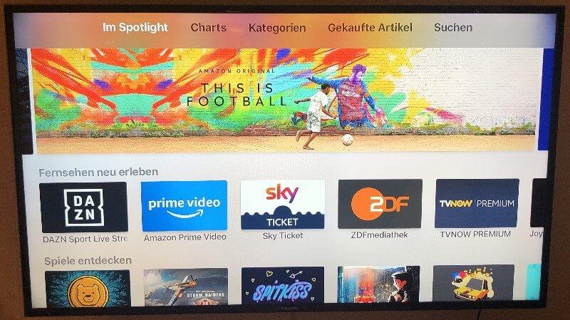Apple TV 4K Home Screen