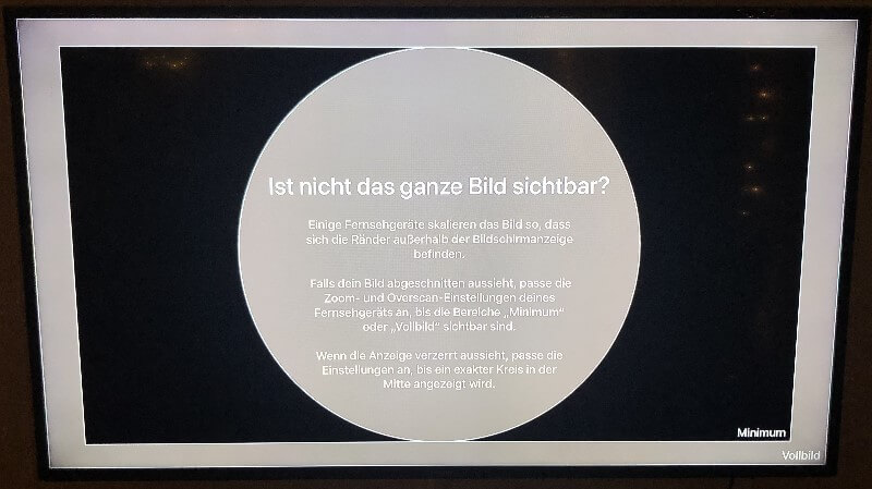 Apple TV Bild Vollbild