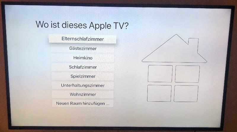 Apple TV Standort