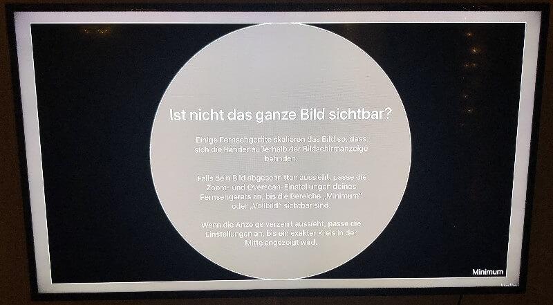 Apple TV ganzes Bild nicht sichtbar