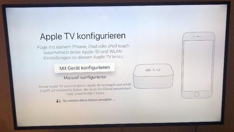 Apple TV konfigurieren