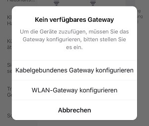 Smart Lampe - WLAN Gateway konfigurieren