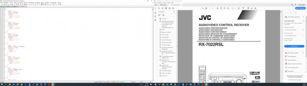 Dual-Monitor Setup 1920x1080 Notepad und PDF Reader