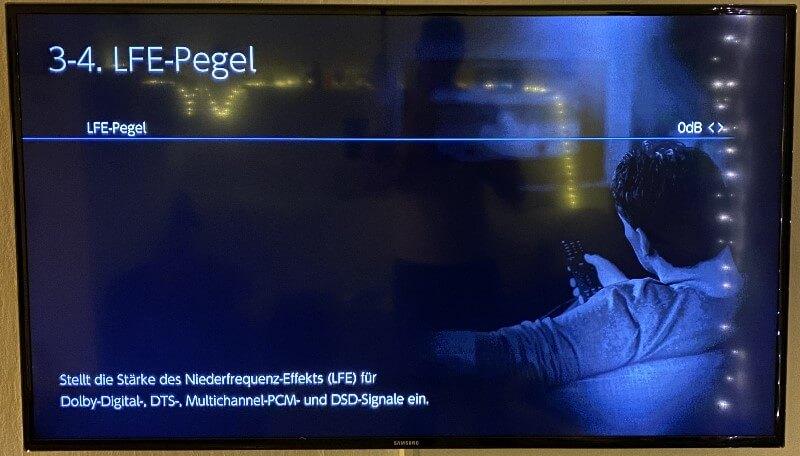 Onkyo TX-NR696 3.4 LFE Pegel