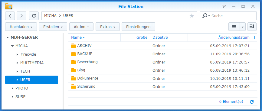 Synology File Station