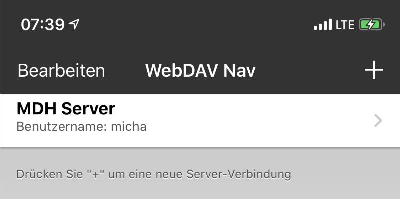 WebDAV Navigator App - Übersicht