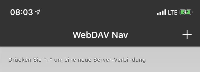 WebDAV Navigator App - Server hinzufügen