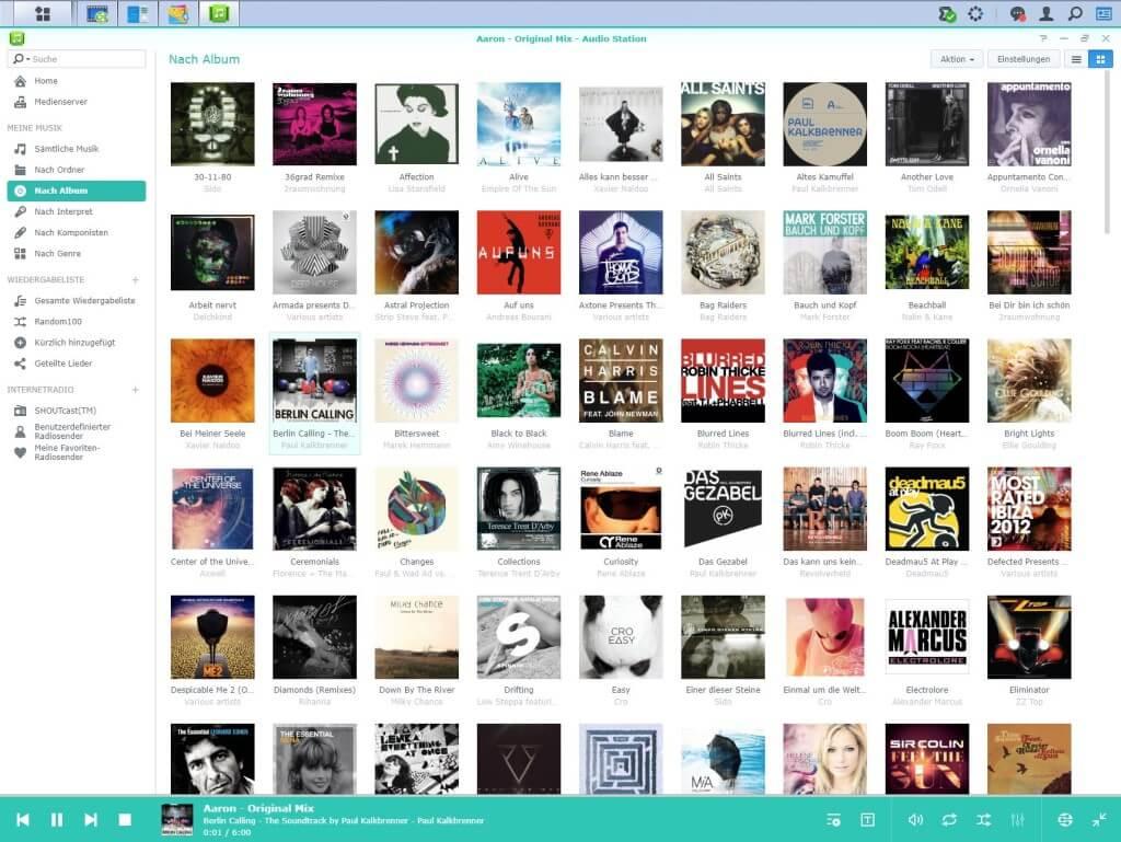 Audio Station - Nach Album sortiert