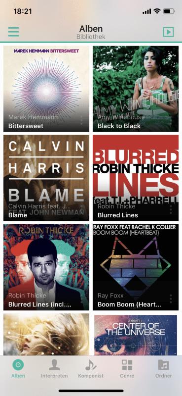 DS Audio - Alben Bibliothek