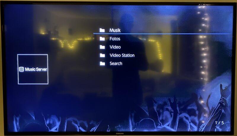 Onkyo - Music Server - Medien Auswahl
