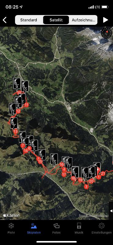 Ski Tracks - Satellitenbild