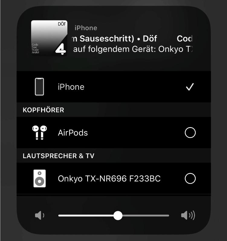 Spotify App - weitere Geräte