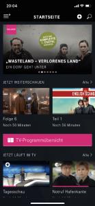 Telekom Media Receiver App - Startseite