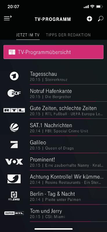 Telekom Media Receiver App - TV Programm