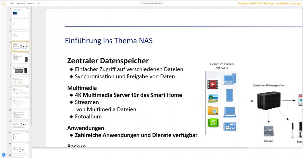 Office mit NAS Server - PowerPoint