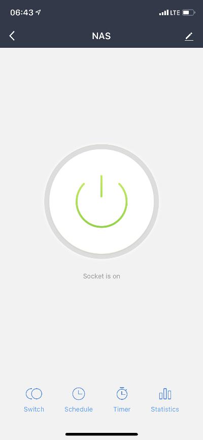 Smart Life App - Optionen NAS
