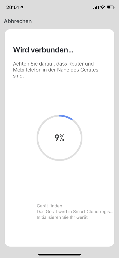 Smart Life App - Wird verbunden