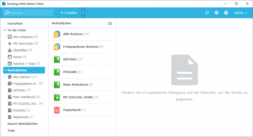 Synology Note Station Client - Notizbücher - Notizen zentral speichern