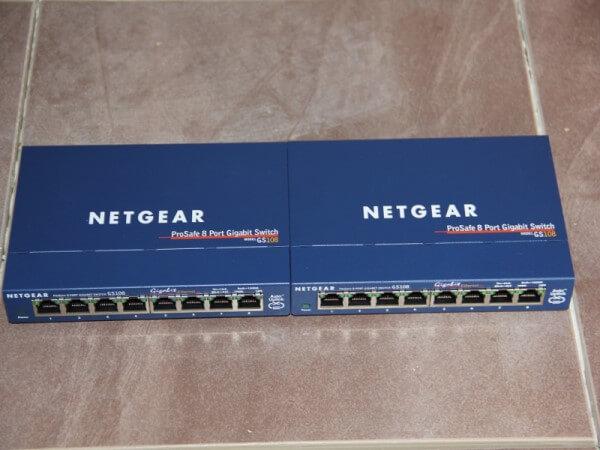 8 Port GigaBit Netgear Switch