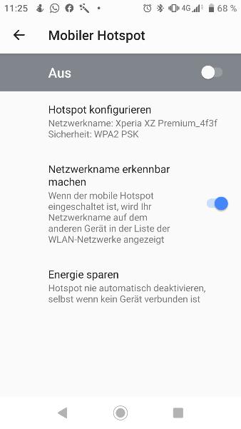 Android - Hotspot aus