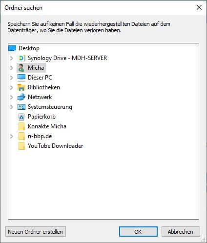 FonePaw Datenrettung - Bild wiederherstellen - Speicherort festlegen