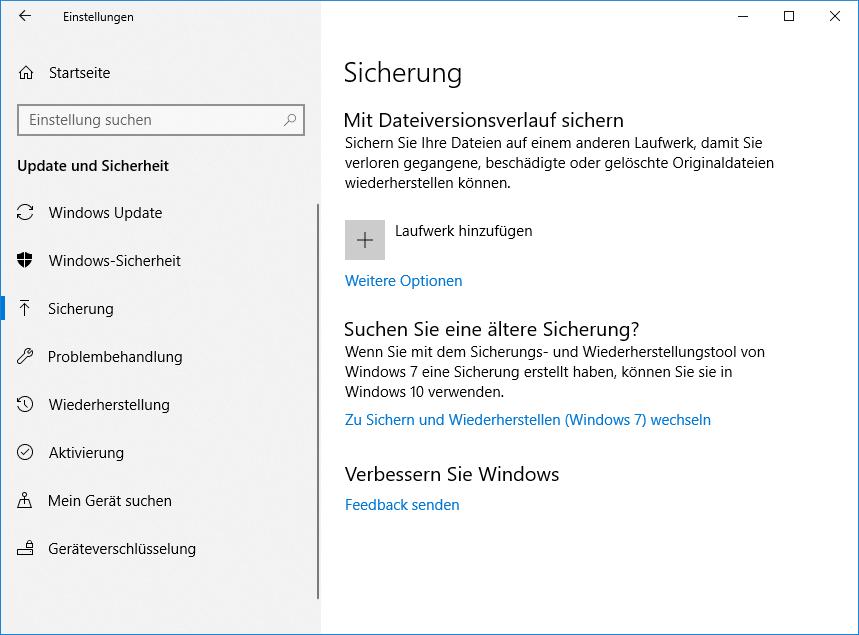 Windows-Einstellungen-Sicherung
