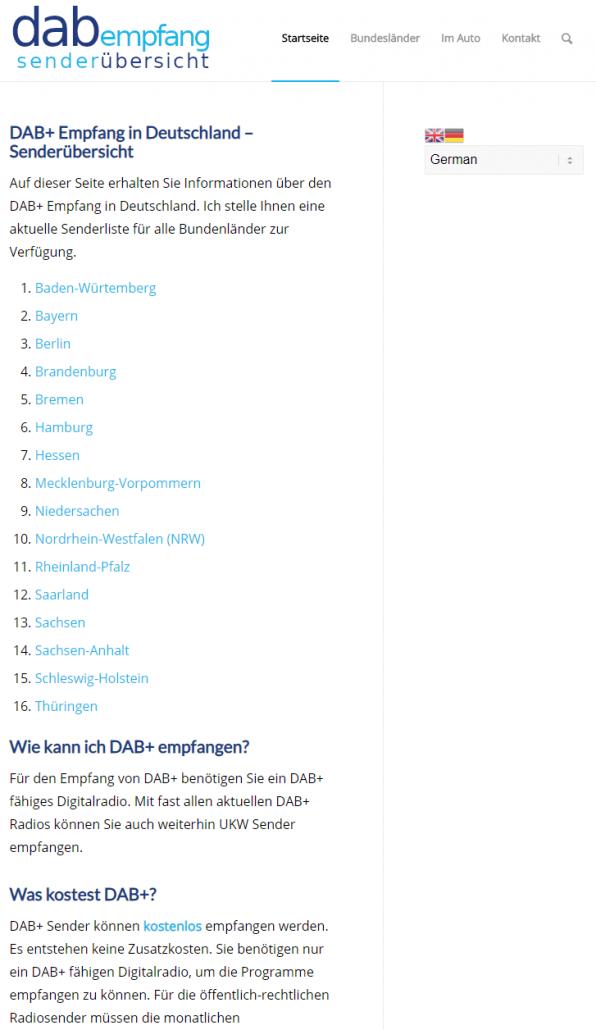 Website übersetzen - deutsch