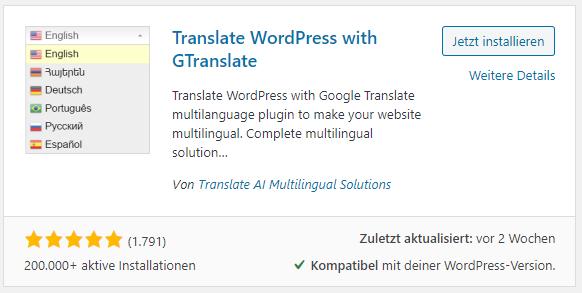 Website übersetzen