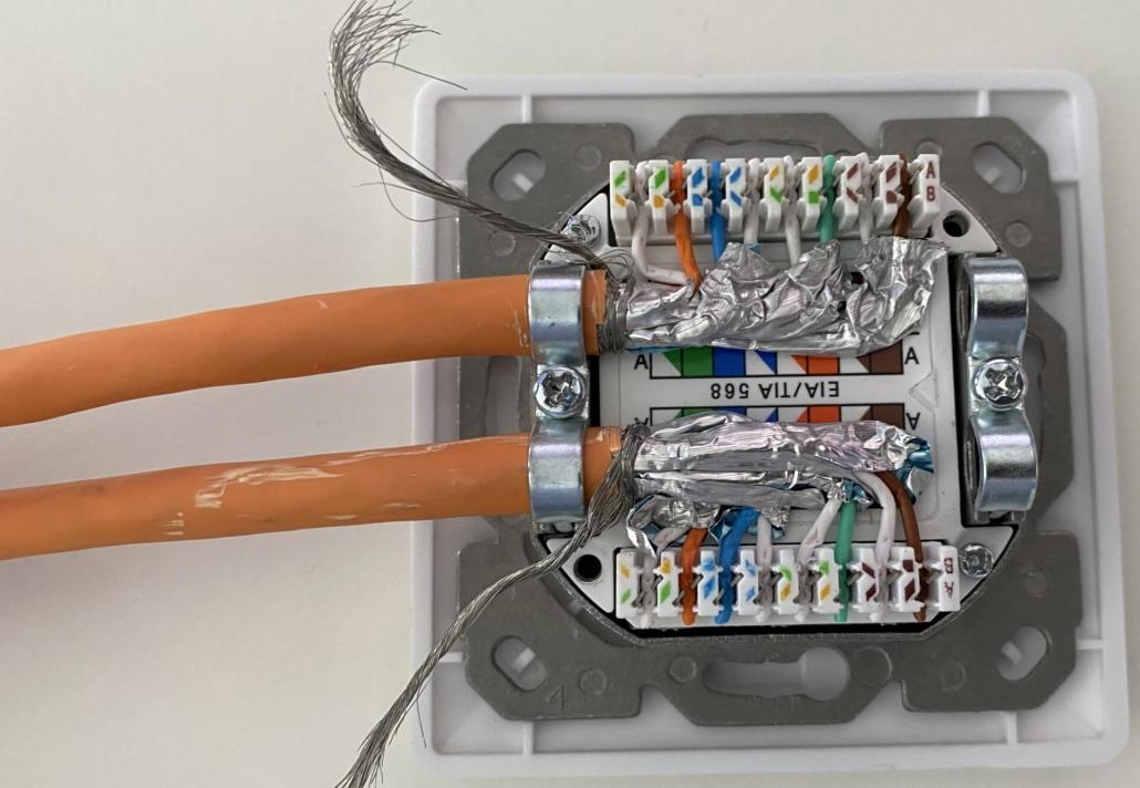10 Cat 7 Kabel - komplett aufgelegt