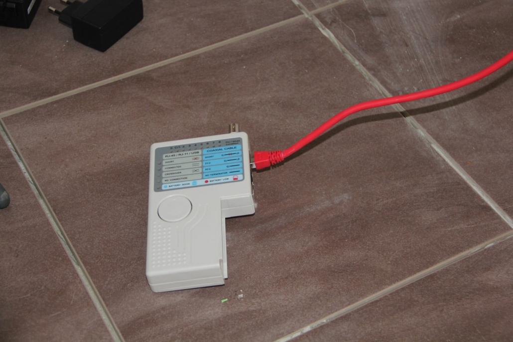 LAN Tester an Pachtpanel