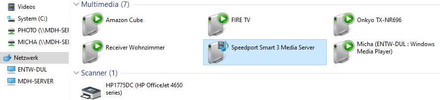Windows Netzwerk - Multimedia