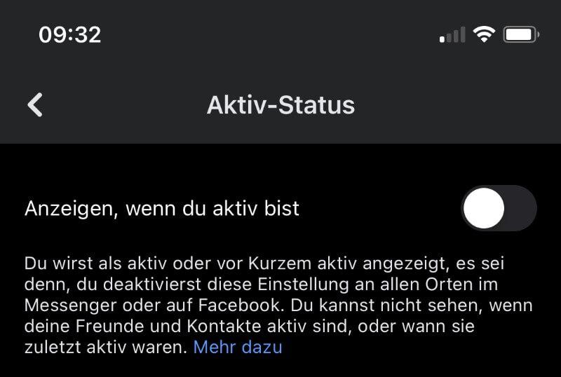 Facebook Aktiv-Status